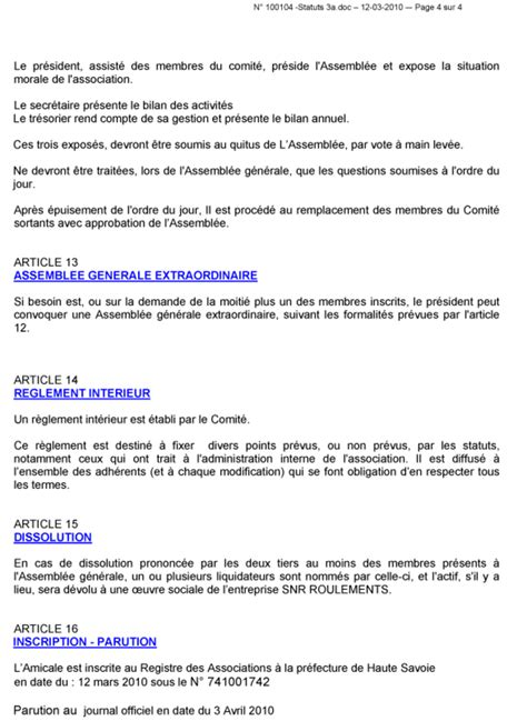 bureau d une association loi 1901 modification bureau association bureau d une association