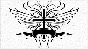 Cross wings banner vector art | Other Files | Stock Art