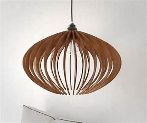 Wood pendant ceiling lights : Wood pendant light chandelier ceiling lamp modern