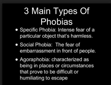 phobia  fear    fear   phobia