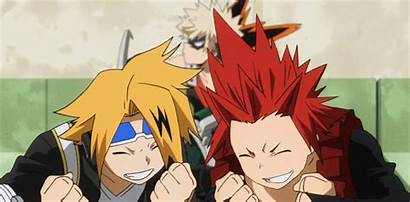 Anime Kirishima Academia Hero Eijiro Test Everyone