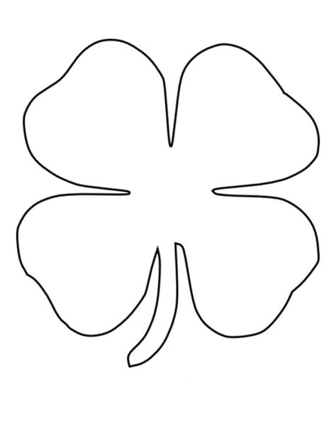 Clover Templates Flowers by Four Leaf Clover Coloring Pages Patrones