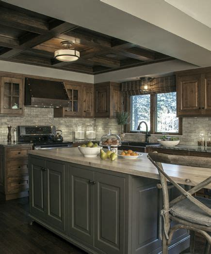 rustic grey kitchen cabinets this custom kitchen brings rustic style to a new level of