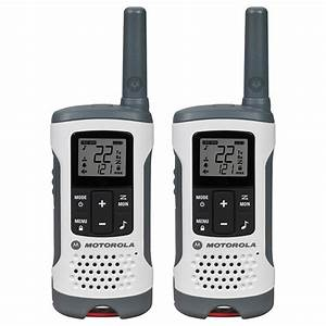 Motorola Talkabout T260 Rechargeable 2-way Radio  White  2-pack -t260