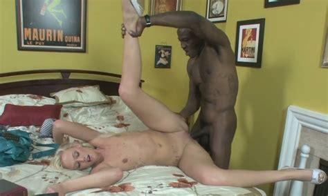 Horny African Fellow Wesley Pipes Bangs Leggy Blond Slut