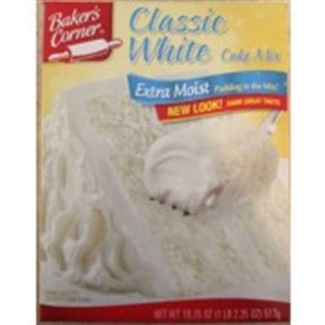 white cake mix baker s corner moist classic white cake mix 1305
