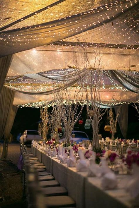chic wedding tent decoration ideas deer pearl flowers