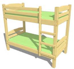 plans to build a bunk bed plans free