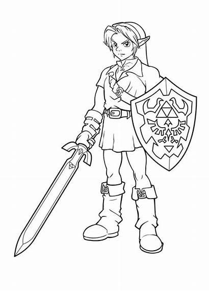 Coloring Pages Link Colouring Sheets Disney Zelda