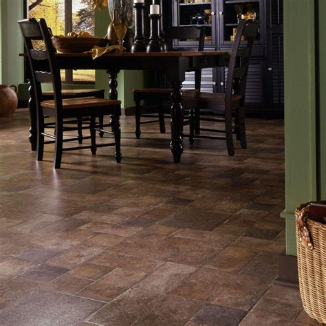 Snap Lock Flooring Kitchen by Innovations Tuscan Terra 8 Mm Thick X 15 1 2 In