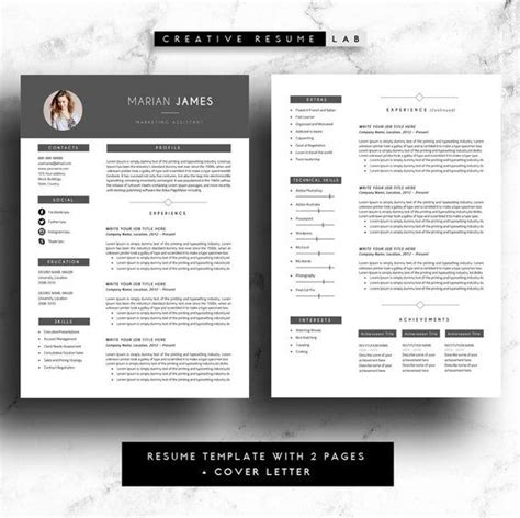 Resume Template Windows 8 by Marian Professional Resume Template Cv Template 3 Pages