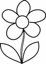 Coloring Pages Flower Printable Drawing Draw sketch template
