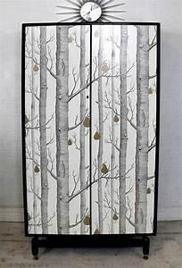 Tapisser Avec 2 Papiers Differents : relooker ses meubles avec du papier peint 6 id es d co originales ~ Nature-et-papiers.com Idées de Décoration