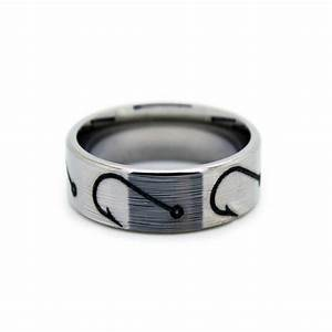 fishing hook wedding rings fish hook band by one camo With mens fishing wedding rings