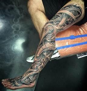Biomechanical Leg Sleeve   Best tattoo design ideas
