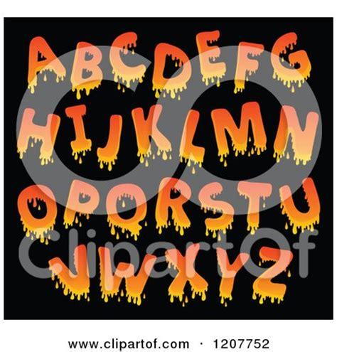 cartoon   orange dripping alphabet letters royalty