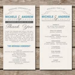 simple wedding programs templates vow renewal for 25th anniversary help with program wording