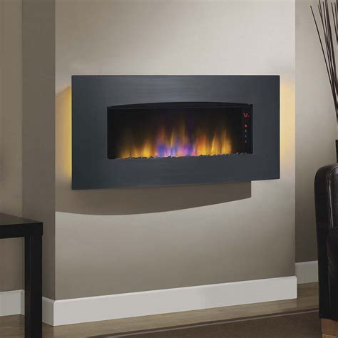 electric wall fireplace classicflame transcendence wall hanging electric fireplace