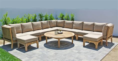 outdoor seating sectional sofa teak outdoor sectional sofa teak seating sunbrella