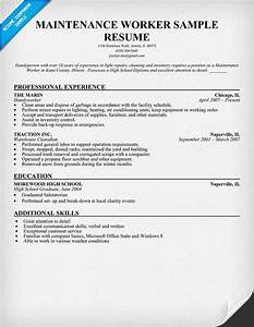 maintenance worker resume sample resume ideas With building maintenance resume templates