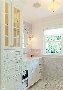 Bathroom vanity with tower cabinet for the home pinterest for Bathroom vanities with storage towers