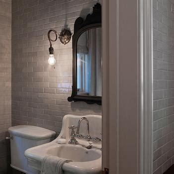 mirrored subway tiles contemporary bathroom troyer