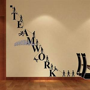 Teamwork letters wall sticker removable decal vinyl for Office wall letters