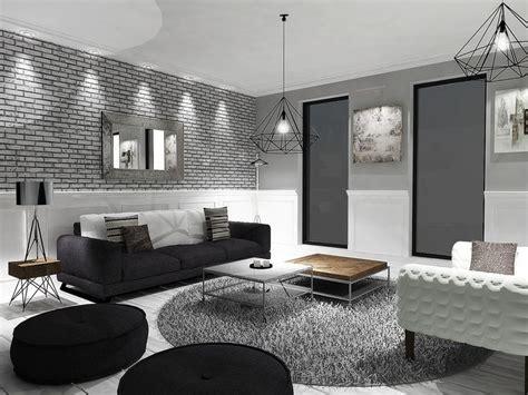 decoration sejour gris et blanc deco gris et noir on decoration d interieur moderne salon noir blanc canape miliboo idees
