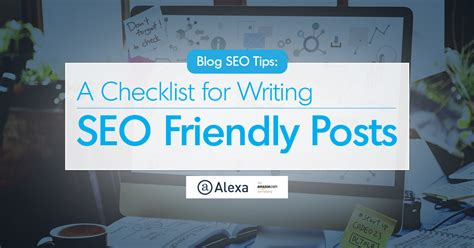 Blog Seo Tips Checklist For Writing Friendly Posts