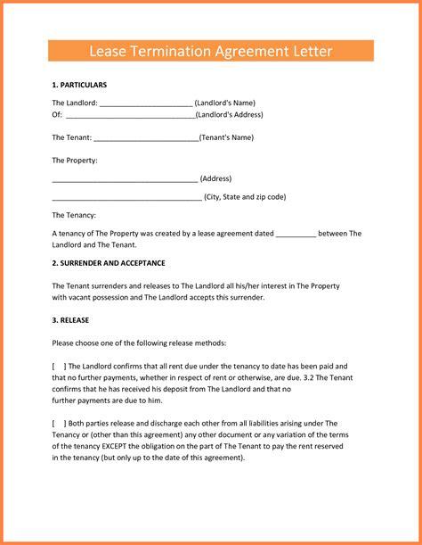 termination  lease agreement marital settlements