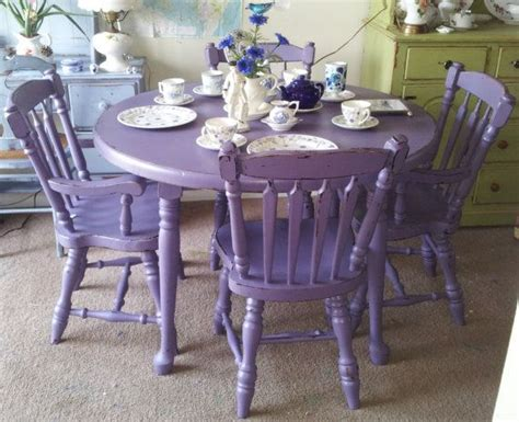 shabby chic dining table leeds purple antique shabby chic mahogany dining table chairs hand painted furniture upcycle