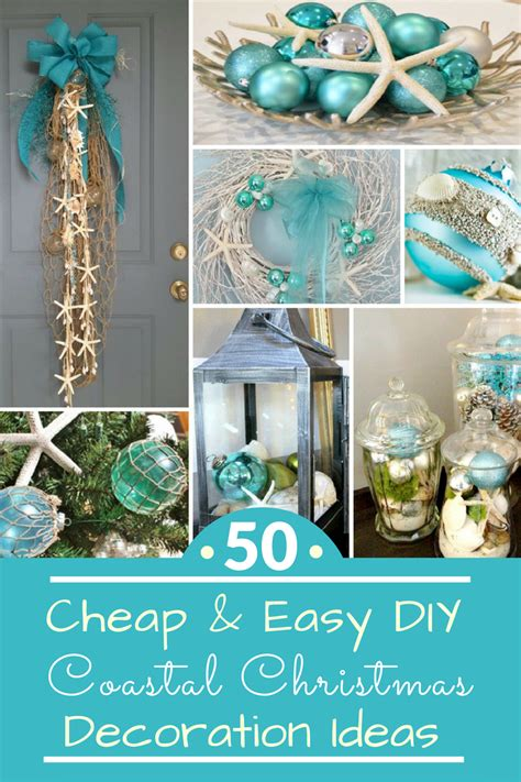 cheap easy diy coastal christmas decorations