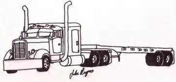 semi truck tow trucks wreckers kenworth semi truck coloring pages - Semi Truck Trailer Coloring Pages