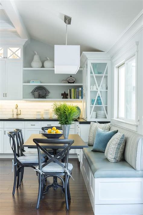 built in bench seat kitchen eat in kitchen with built in dining bench transitional