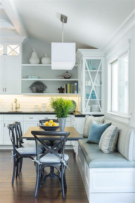 Eat In Kitchen with Built In Dining Bench   Transitional