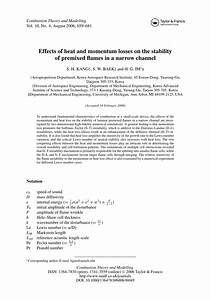 Effects of heat and momentum losses on... (PDF Download ...