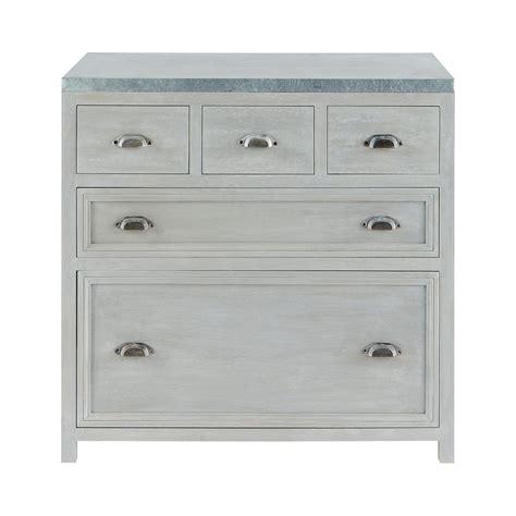 meubles de cuisine bas meuble bas de cuisine en bois d 39 acacia gris l 90 cm zinc