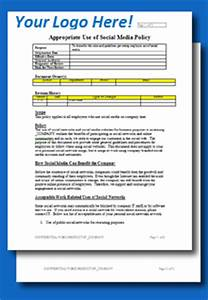 Company Policies And Procedures Template FREE Social Media Policy Template ToolkitCafe