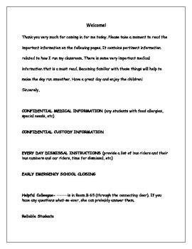 letter  leave  substitute teachers