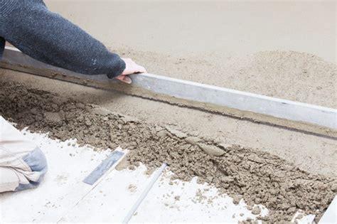 Estrich Beton Verlegen estrich verlegen wir zeigen wie