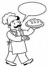 Coloring Baker Pages Colorear Para Panadero Booker Animado Washington Clipart Printable Vector sketch template
