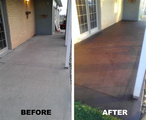 front porch stained concrete a definate must for my