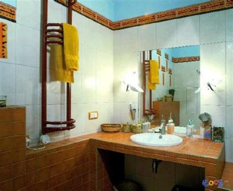bathroom decorating  blue brown colors chocolate inspiration