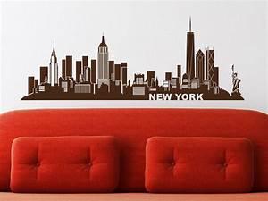 New York Deko : wandtattoo skyline new york von ~ One.caynefoto.club Haus und Dekorationen