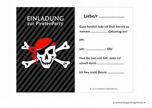 Piraten Kindergeburtstag Einladungen Vorlagen kostenlos