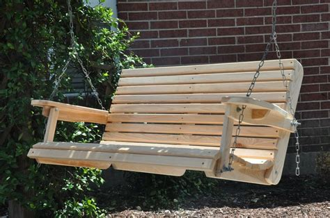 cypress porch swing wood wooden outdoor furniture