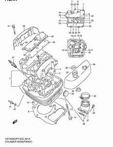 Cylinder Head For 1996 Suzuki Vs1400