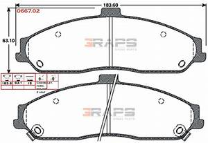 remsa brake pads 7599 ford ba gt front c5 c6 pbr twin With 2013 ford falcon ba