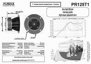 Audax Pr125t1 Horn Tweeter