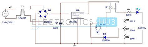Simple Car Battery Charger Indicator Circuit Diagram